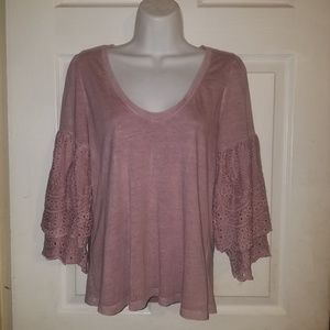 American Eagle Pullover Long Bell Sleeve Blouse